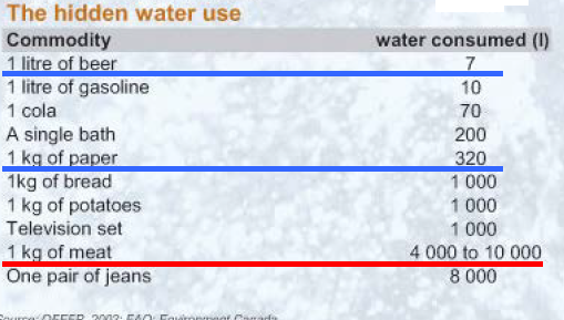 hidden water use